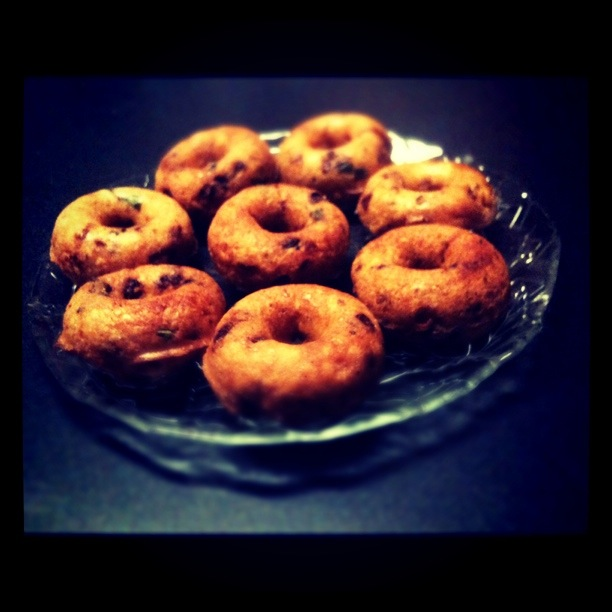 round, brown and crunchy vadas
