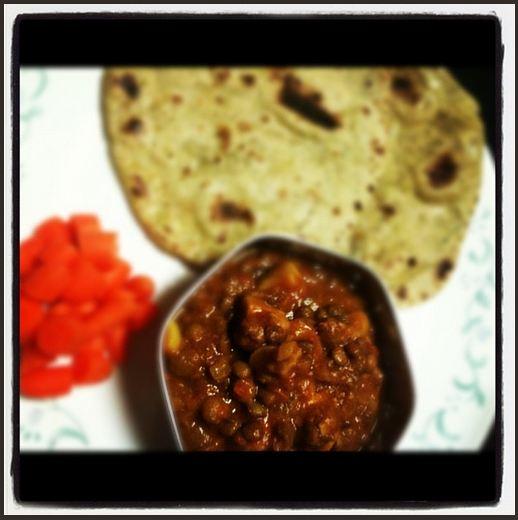 posh mushroom-lentil curry