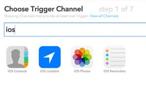 iOS trigger IFTTT