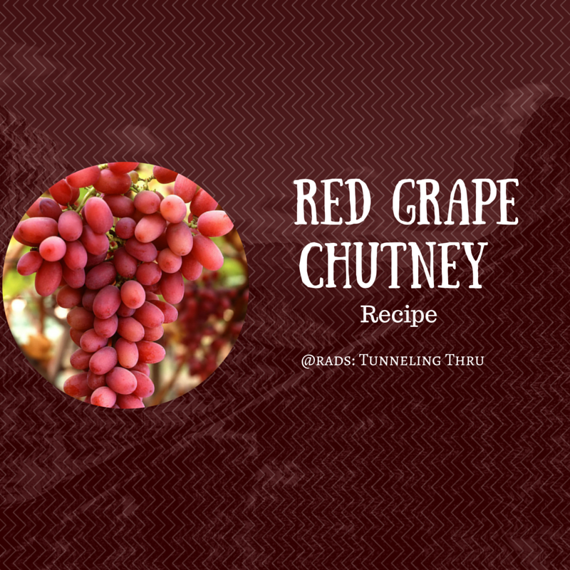 Red Grape Chutney Recipe