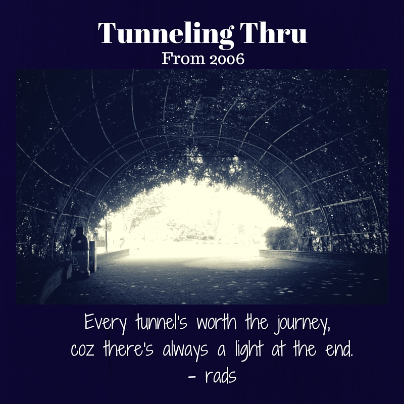 TunnelingThru - rads - facebook page - facebook - blog - post - celebration - quote -