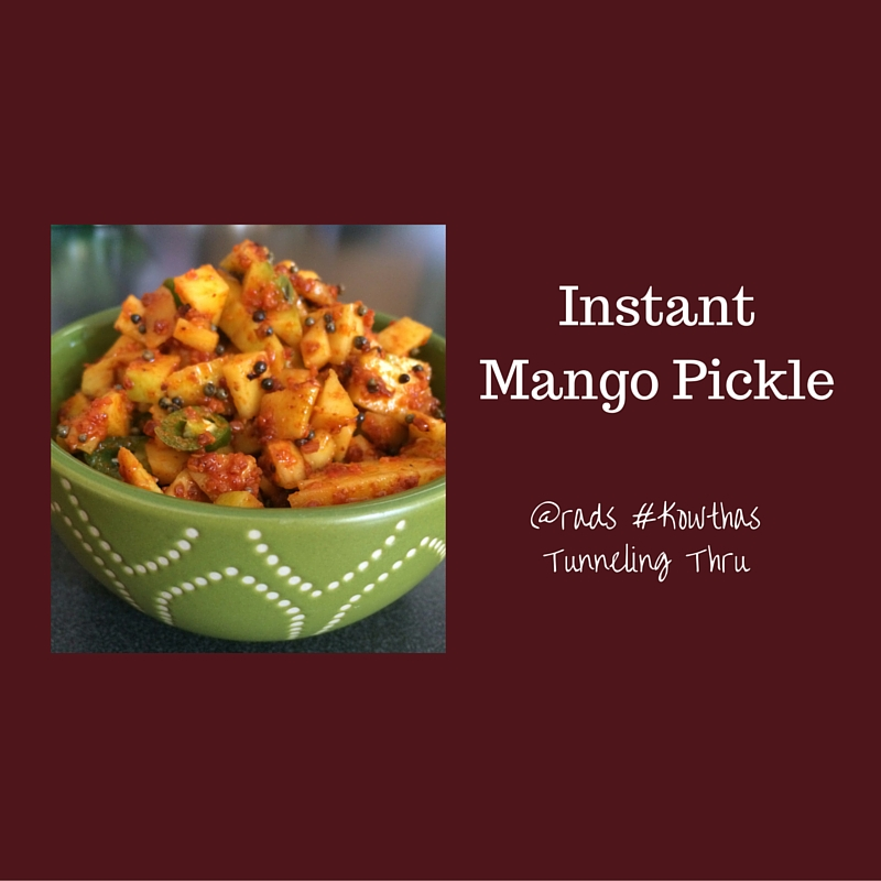 Mango pickle andhra style instant spicy
