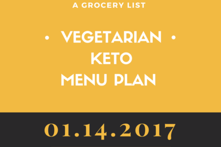 Menu Plan Keto vegetarian january 14