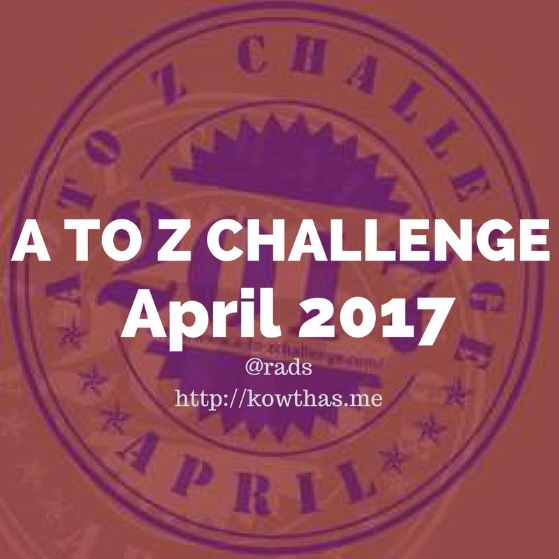 a to z challenge blogathon blogger rads