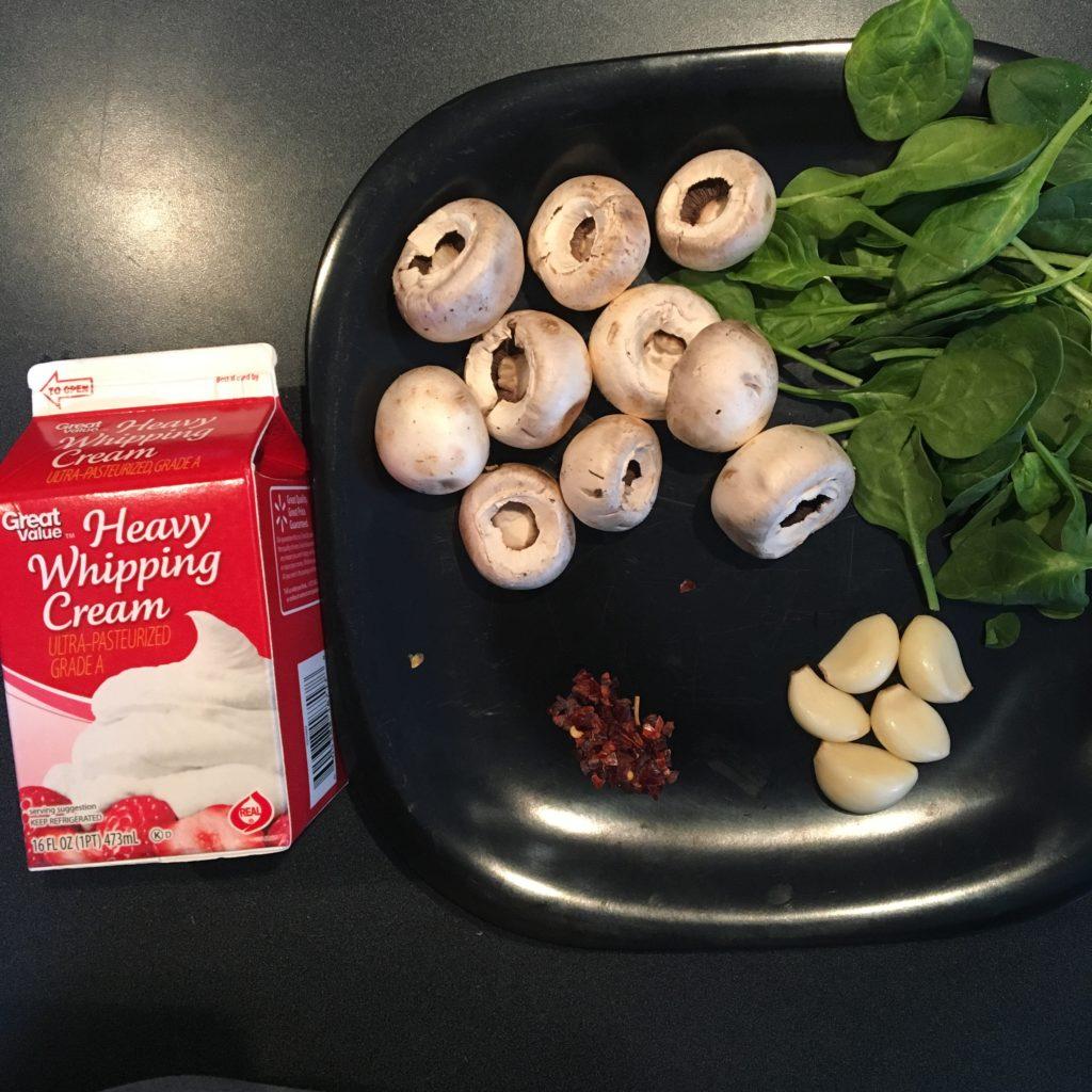 creamed mushrooms keto rads vegketobyrads