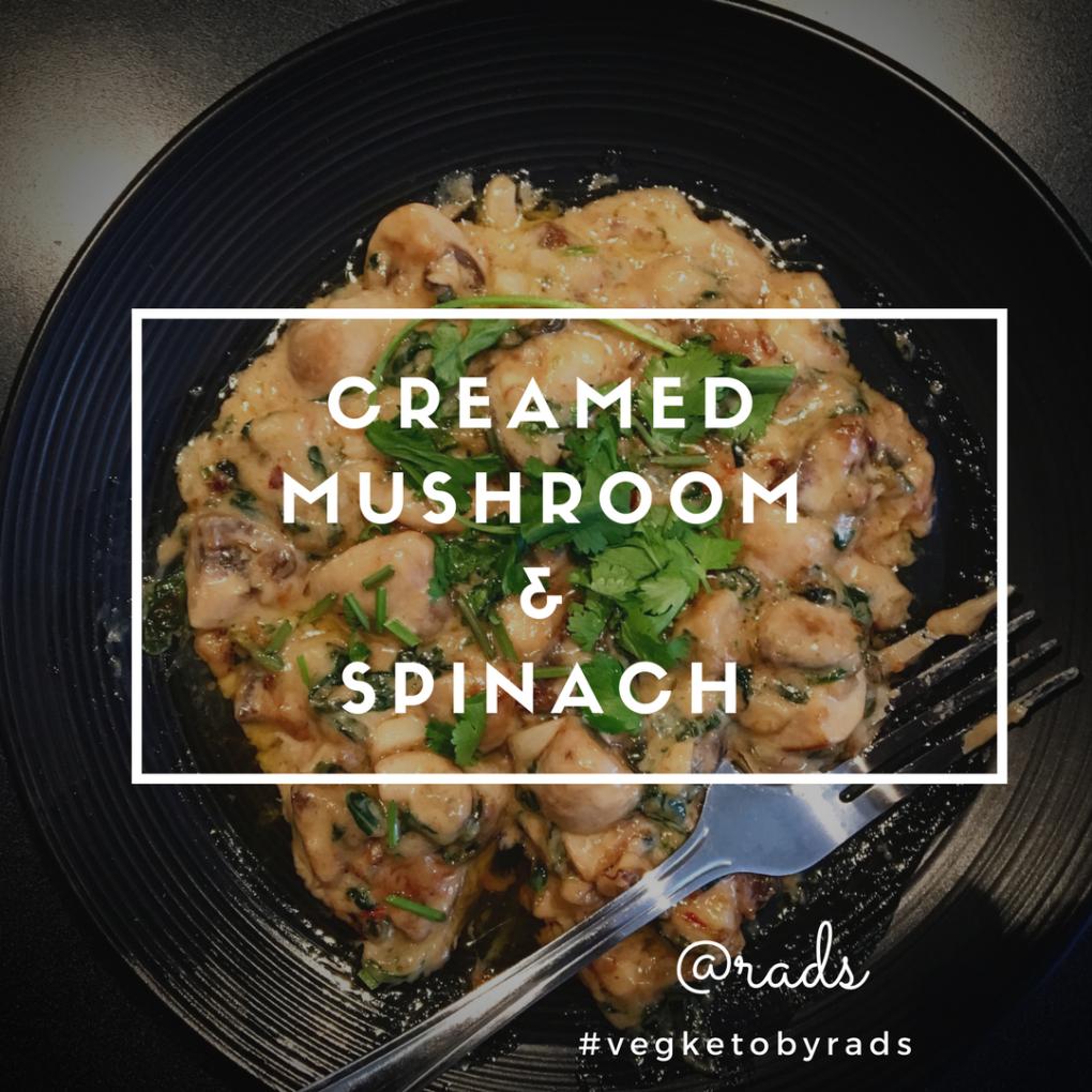 creamed mushroom keto vegketobyrads