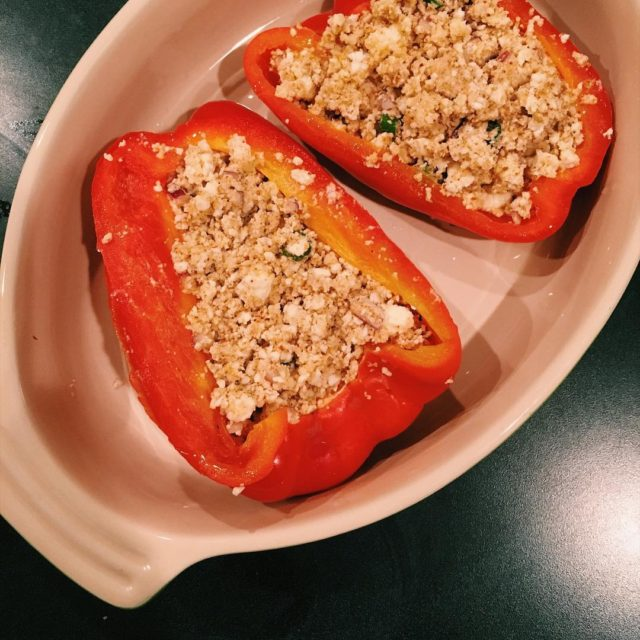 Stuffed bell peppers Recipe on the blog   hellip