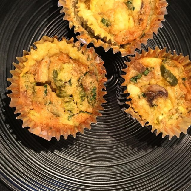 Savory and spicy crustless mini quiches On the blog tomorrowhellip