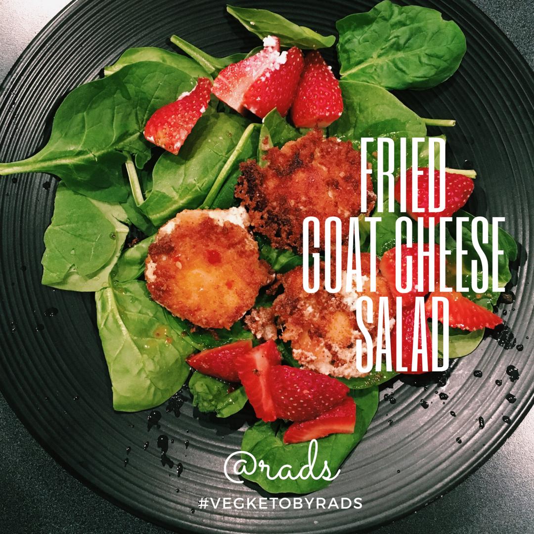 Fried Goat cheese salad - vegketobyrads