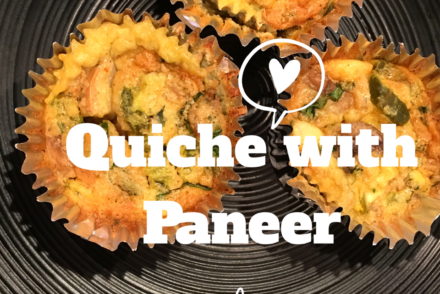 quiche with paneer, indian style #keto #vegketo #lowcarb