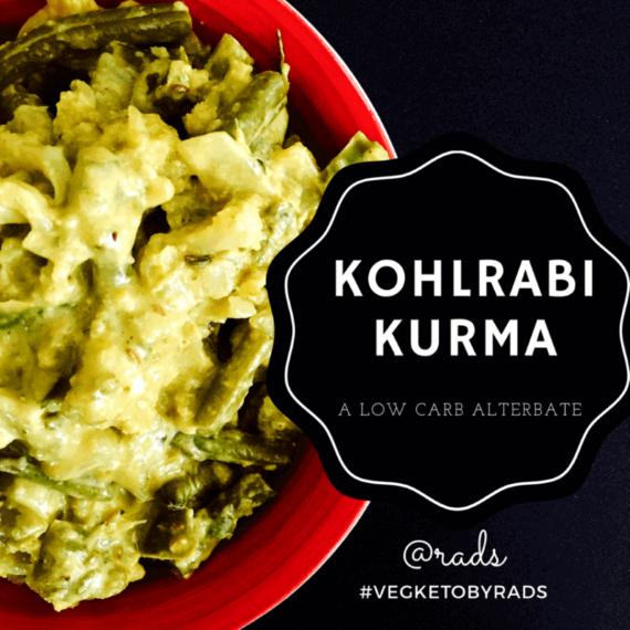 Kohlrabi (knol kohl) kurma - low carb dish #vegketobyrads