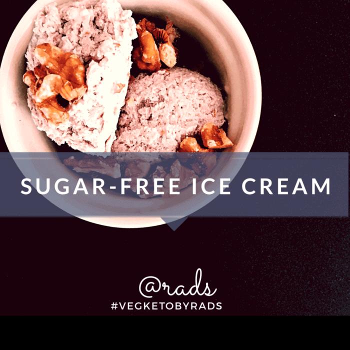 Sugarfree Ice cream Vegan Berry flavor #vegketobyrads
