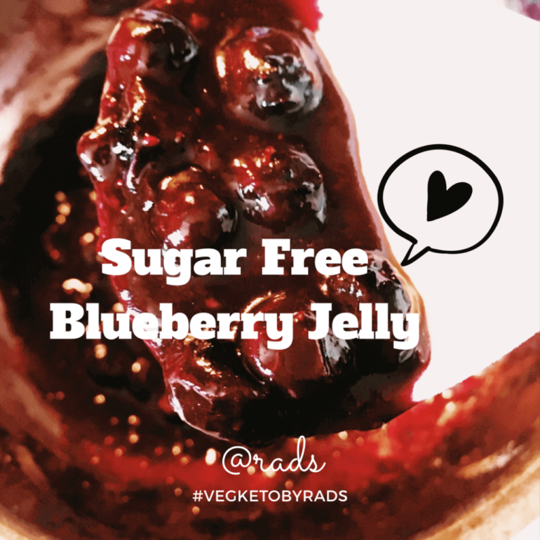 Sugar Free Blueberry jelly - #VegKetoByRads