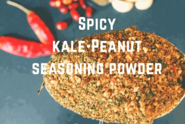 spicy kale peanut powder kowthas vegketobyrads