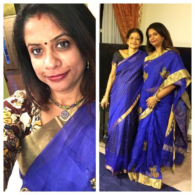 Day 1 in blue Good start to navratri  finallyhellip