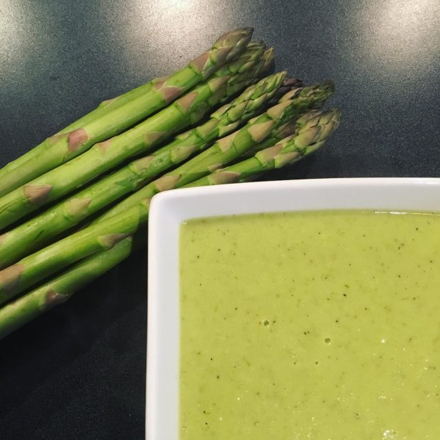 Asparagus soup For lunch and also dinner coz it washellip