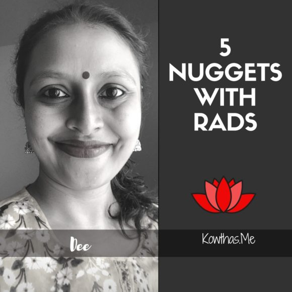 What makes a woman believe what she does, and follow her heart and convictions, On 5 Nuggets with Rads on Instagram - Meet Dee