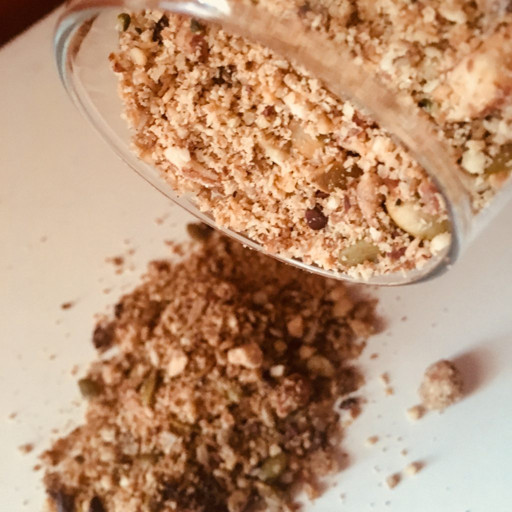 Its possible to have a keto no grain granola breakfast and not have to miss the crunch of cereal!
