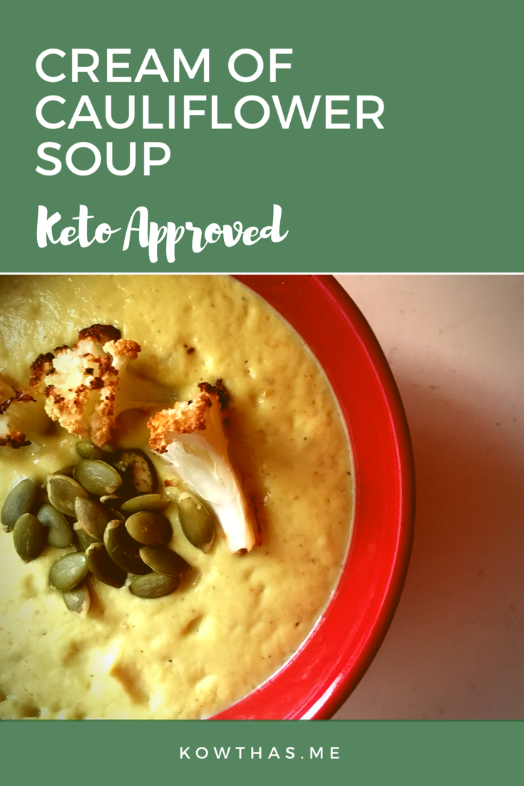 Cream Of Cauliflower soup that's both hearty, easy to make and is fully keto approved. Low Carb and High Fat using coconut milk! Just two ingredients if you will and you have a full meal. Cauliflower, Coconut milk, and one blender!
