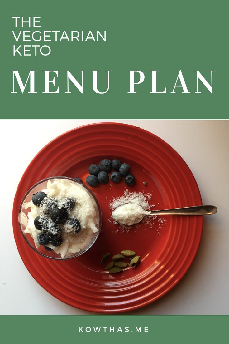Vegetarian Keto Menu Plan