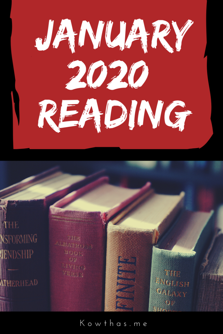 Reading as a habit in 2020 January's challenge