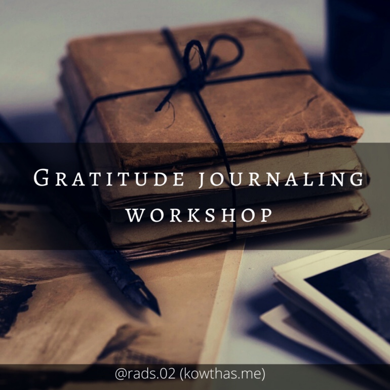 Gratitude journaling workshop